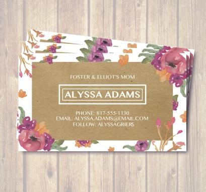 Biz Card Alyssa Display