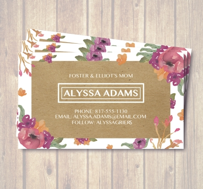 Biz Card Alyssa Display