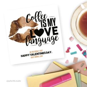 coffee valentine display