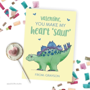 Dinosaur valentine display
