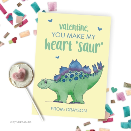 Dinosaur valentine display
